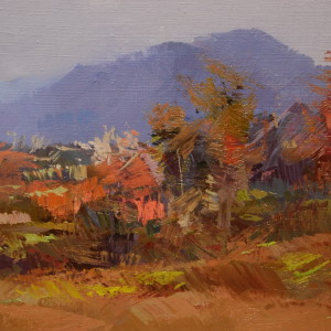 abstract landscape painting in oil