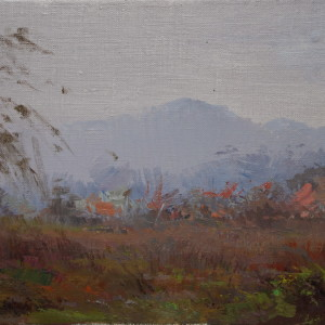 oil landscape canvas art in autumn mood
