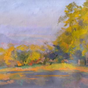 яскрава картина природи, пейзаж осені