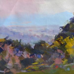 олійний живопис картина пейзаж лісу восени
