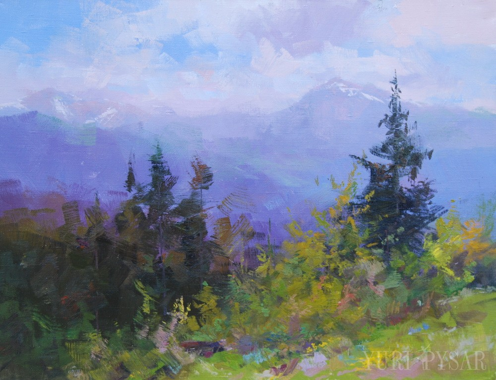 пейзаж карпат гірський ліс