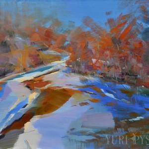 зимовий пейзаж гір