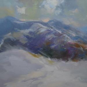 картина зими пейзаж снігових Карпат