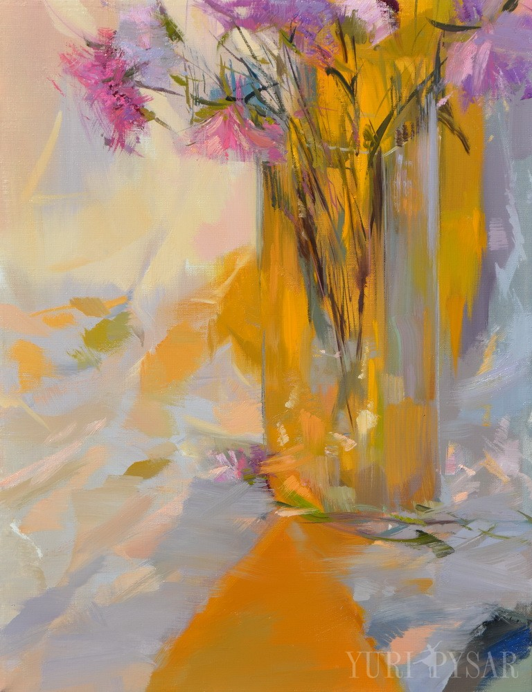 autumn flowers art on canvas