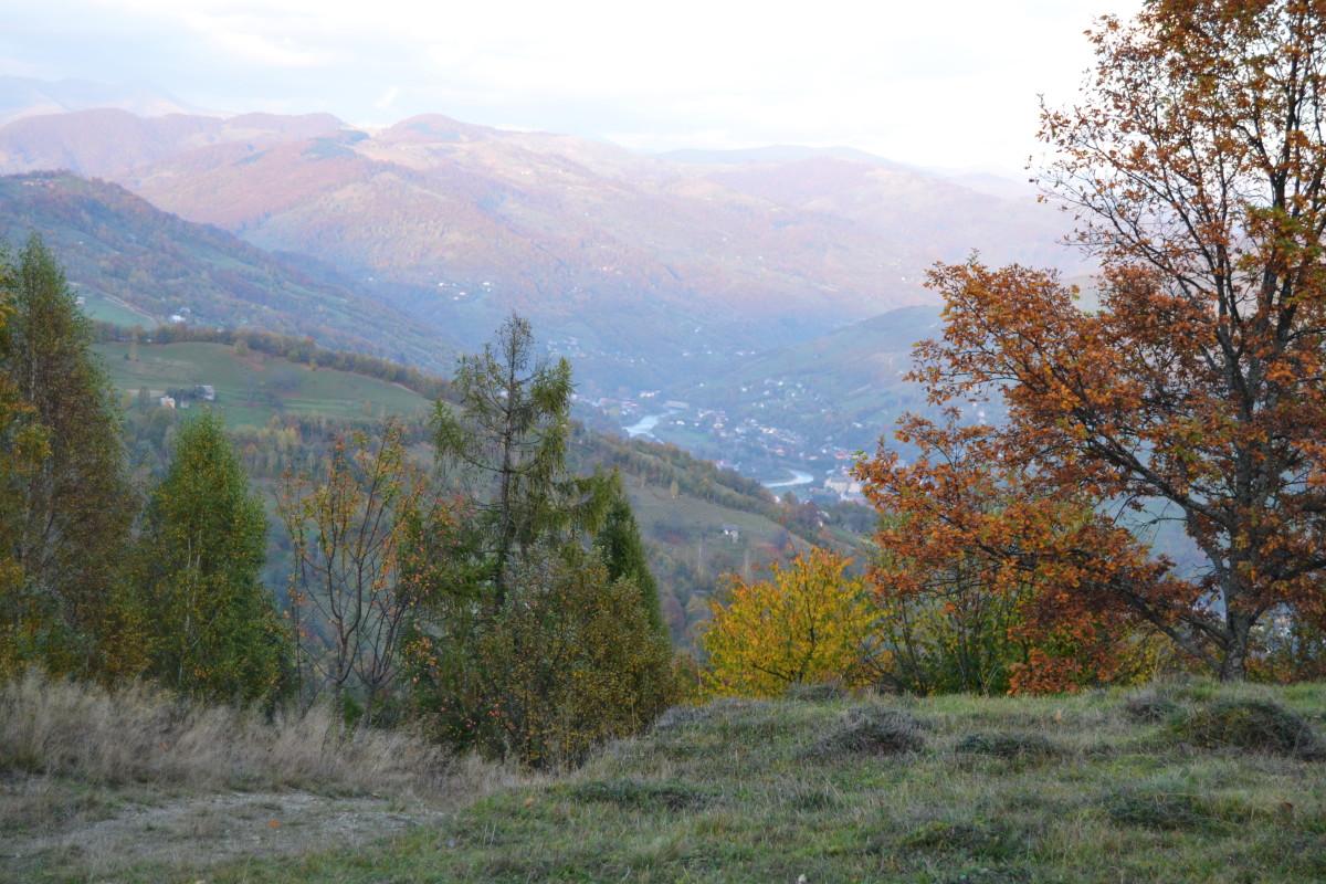 осінь пейзаж карпати