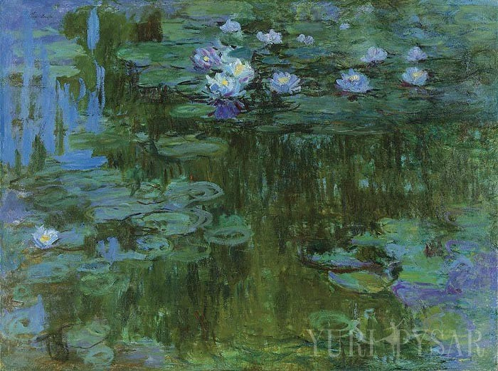 impressionist painting of lilies on water by french impressionist