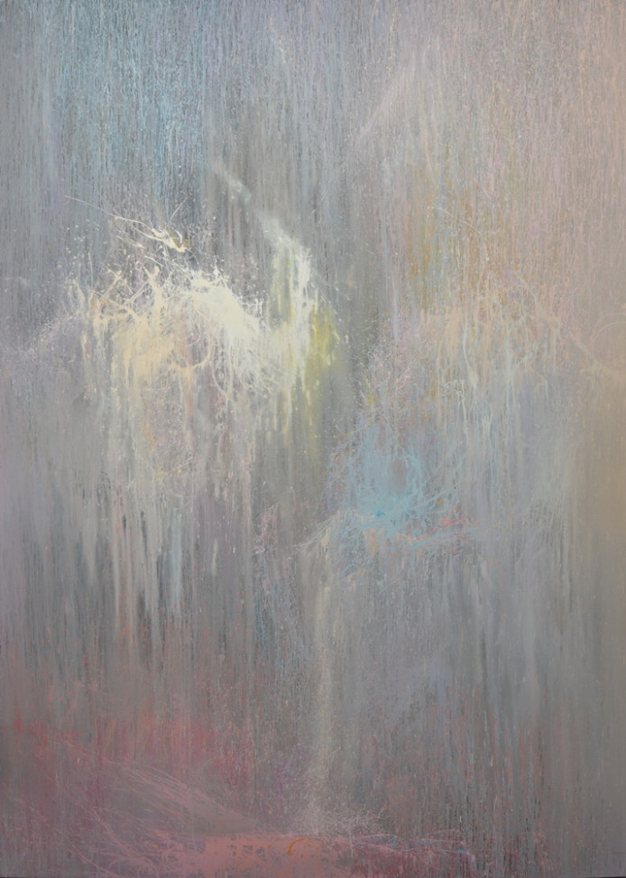 extra large contemporary painting of a ballet dancer, abstract ballet