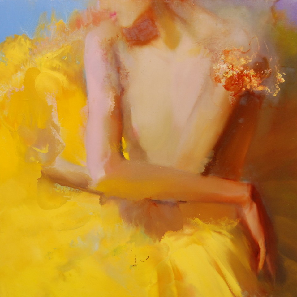 ballerina painting on canvas in october colors