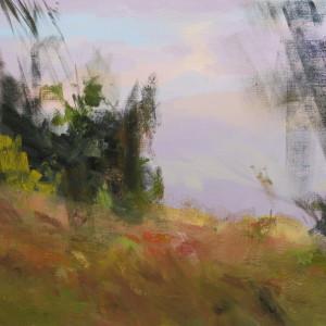 картина маслом пейзаж гір Карпати влітку