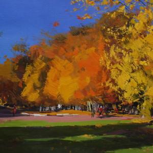 пейзаж маслом, осінь в Івано-Франківську
