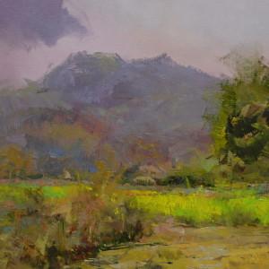 картина маслом сучасний пейзаж, пленер Закарпаття