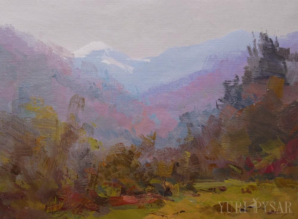 oil landscape art on canvas