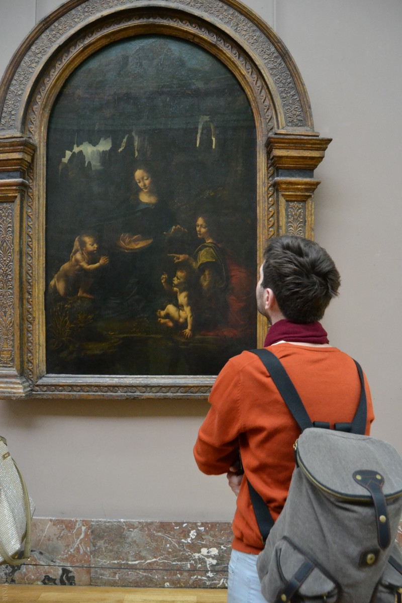 paris, louvre museum and ol master leonardo da vinci