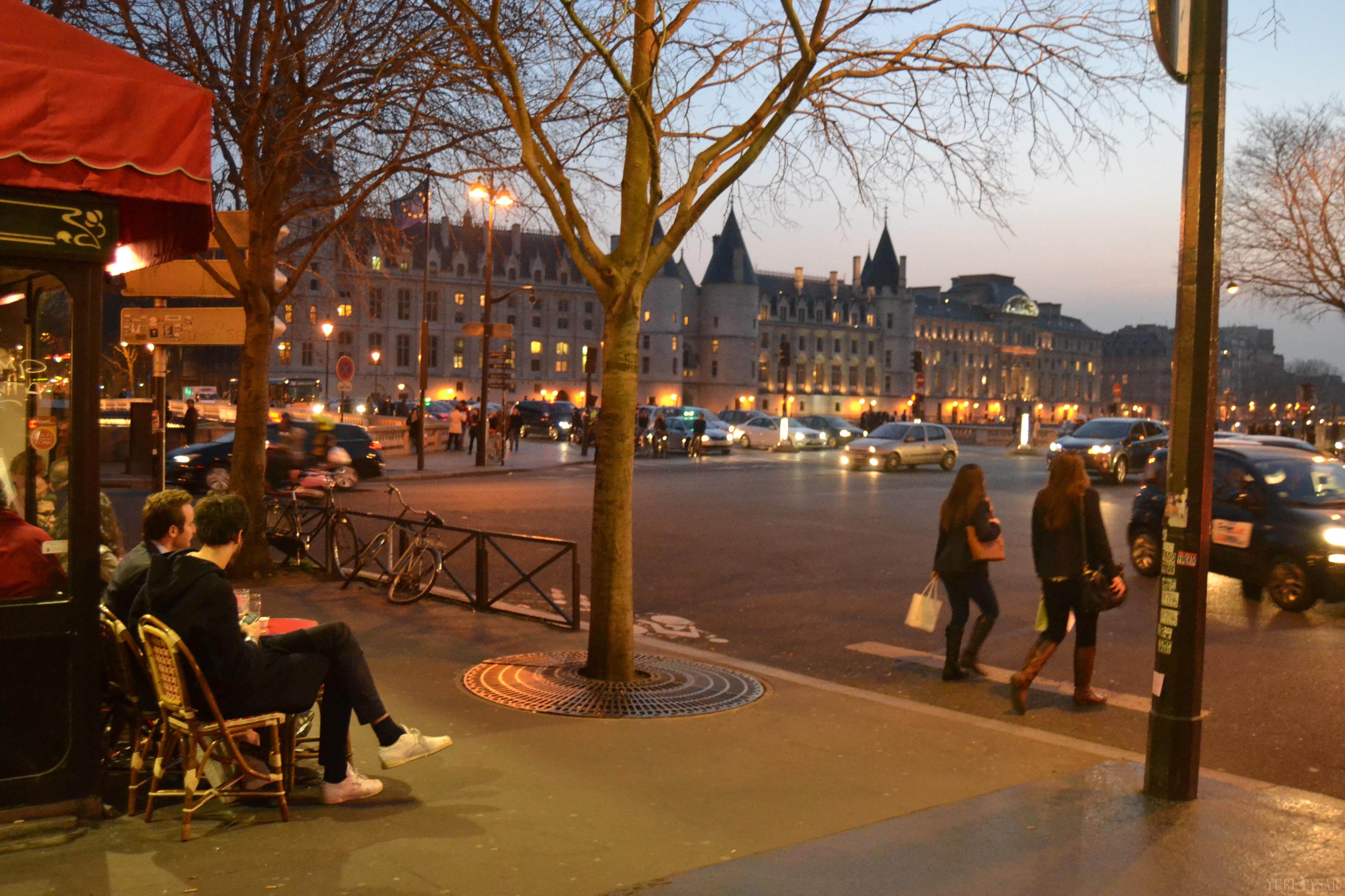 Paris in evening lights