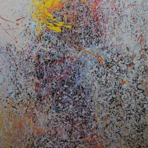 абстрактна картина жовтий і чорний