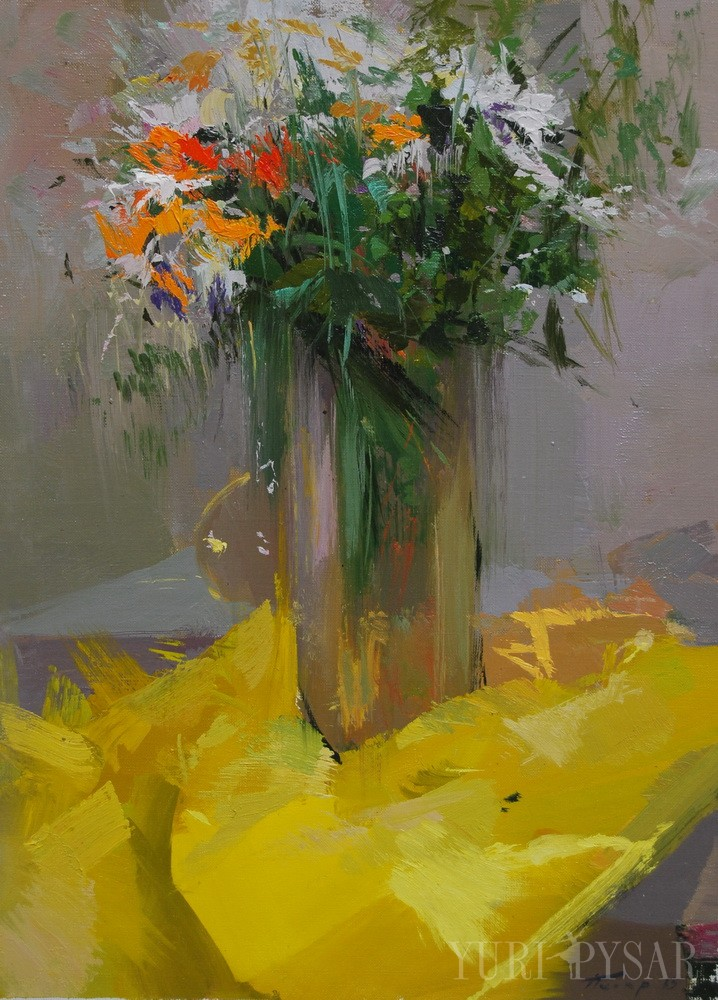 original oil painting of flowers