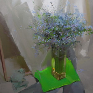 modern flower artwork on canvas by yuri pysar