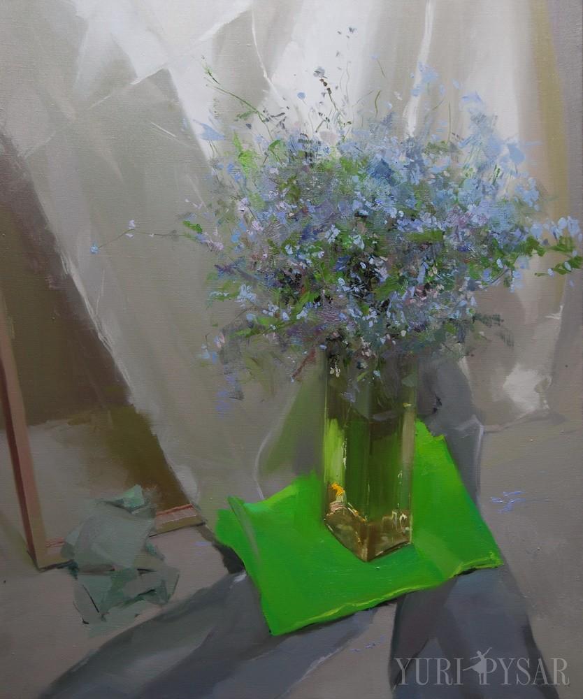 modern flower artwork on canvas by yuri pysar