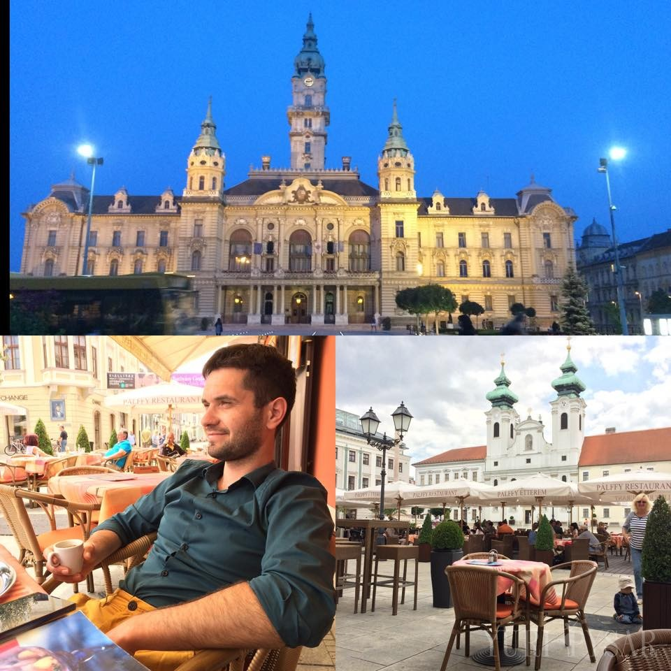 relaxing in Gyor