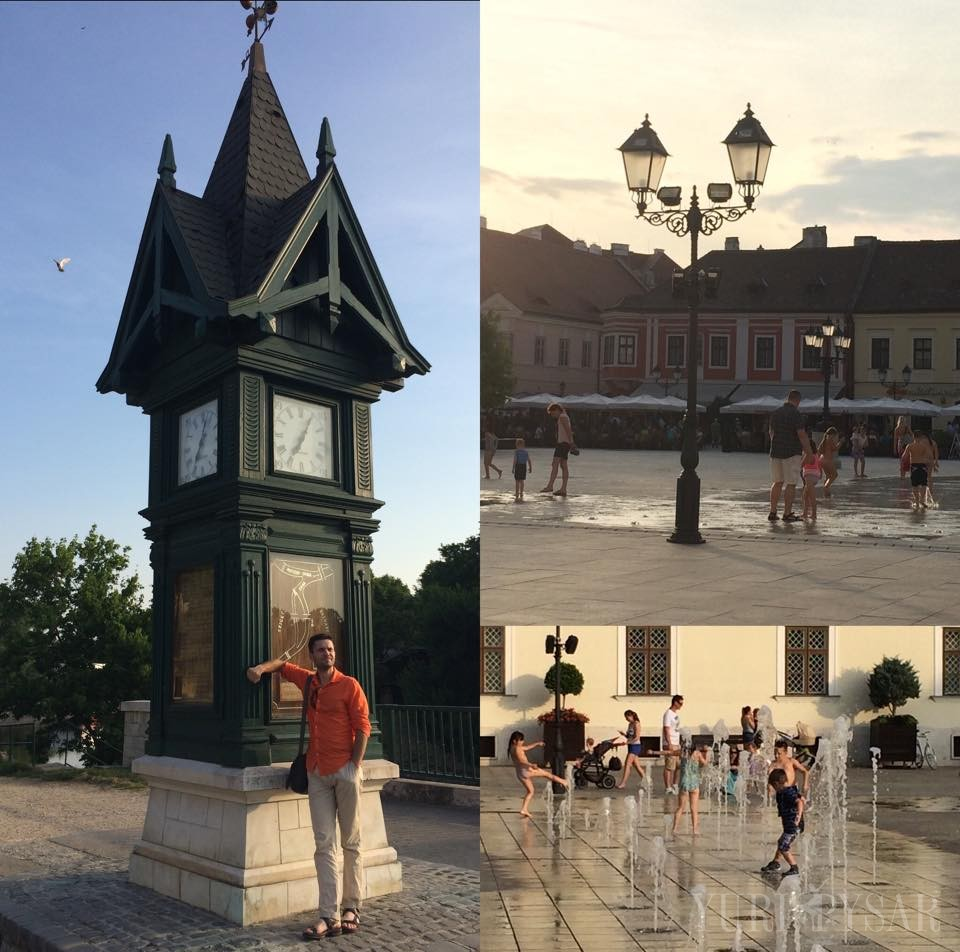 water and fountains in Gyor
