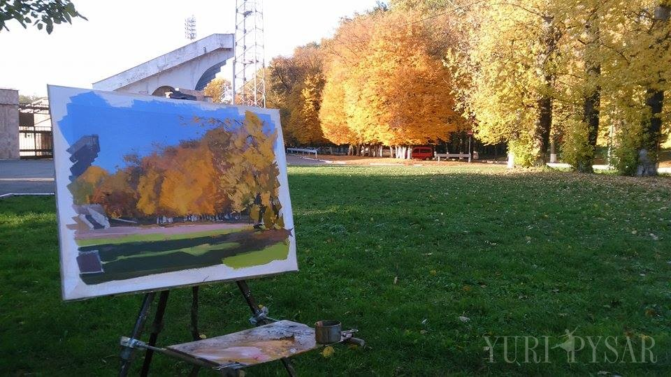 plein air painting, Ivano-Frankivsk