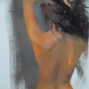 naked woman with her back to the viewer