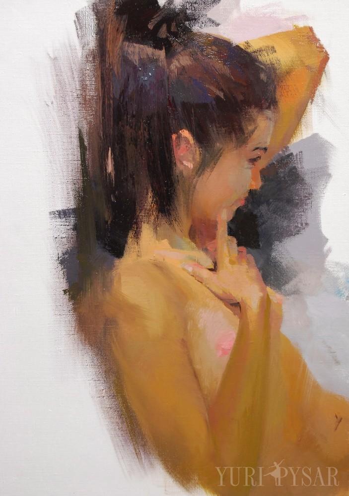 original oil nude artwork on canvas