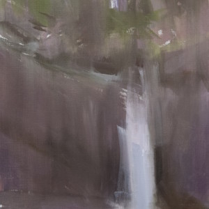 contemporary abstract artwork of waterfall