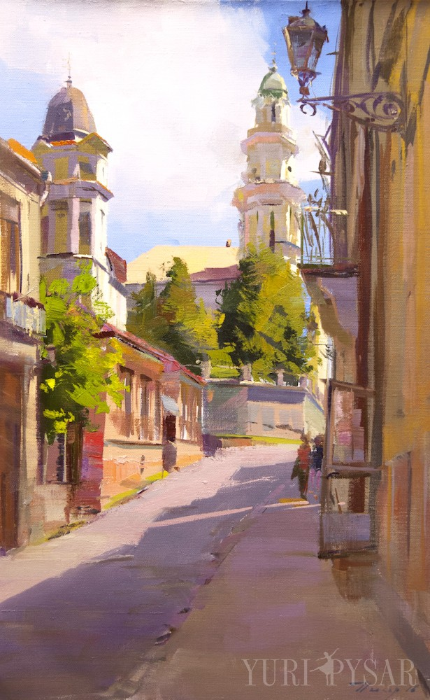 oil painting of uzhhorod city