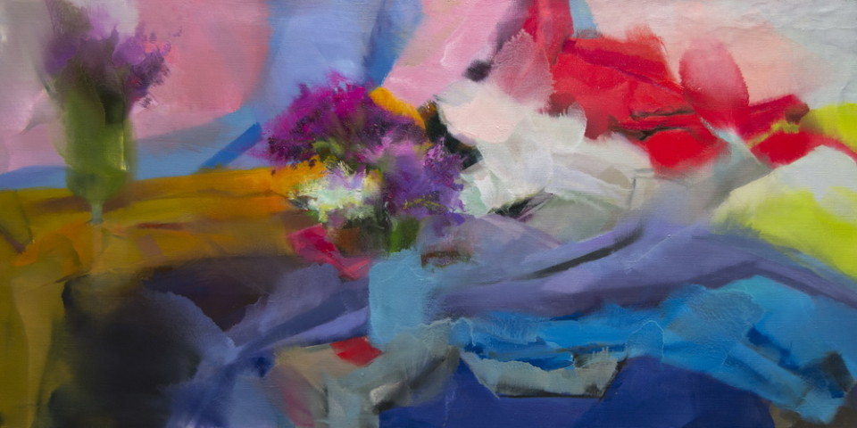 large wall art canvas abstract painting of still life