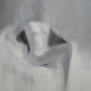 black and white nude painting contemporary art