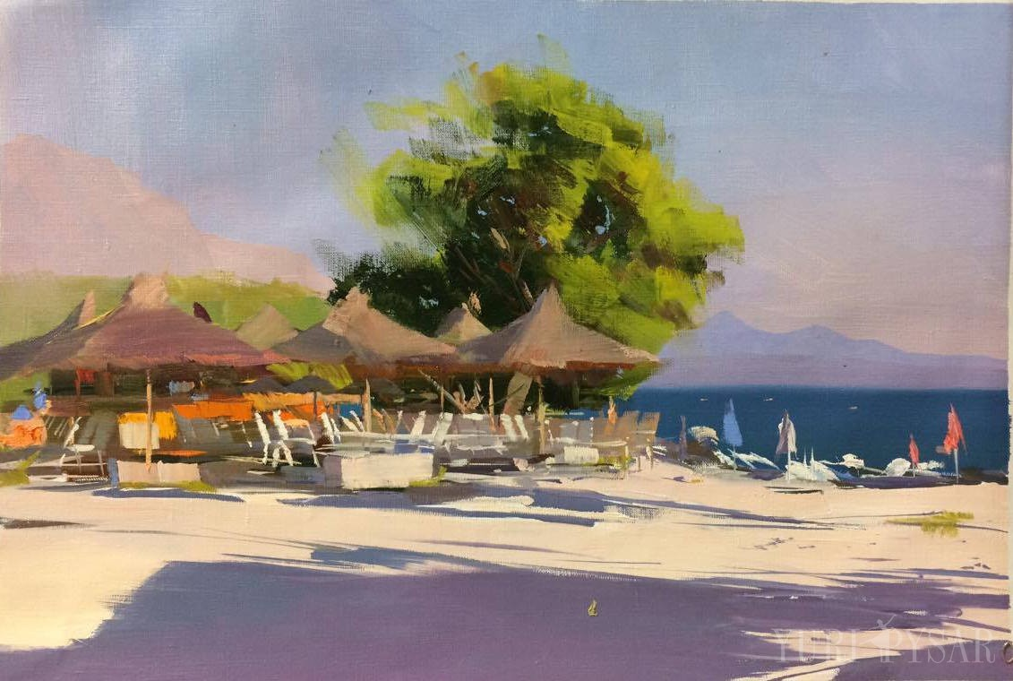 best-beach-makarska-oil-painting