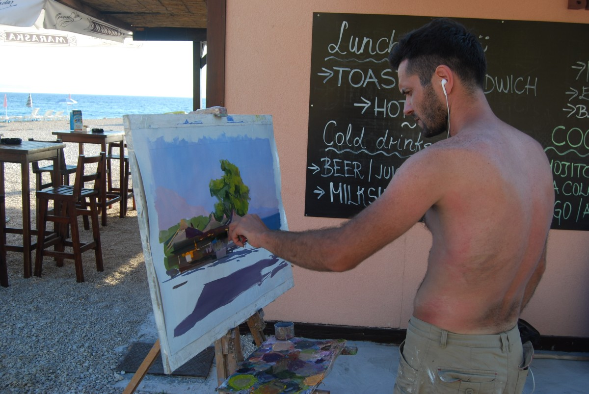makarska-best-beach-oil-painting
