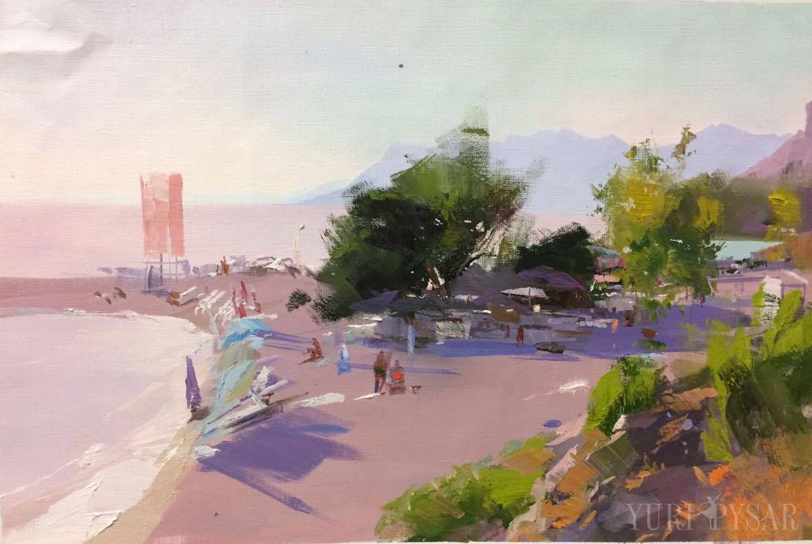 makarska-best-beach-painting