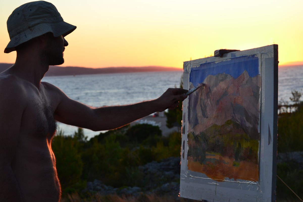 makarska-by-sunset-painting