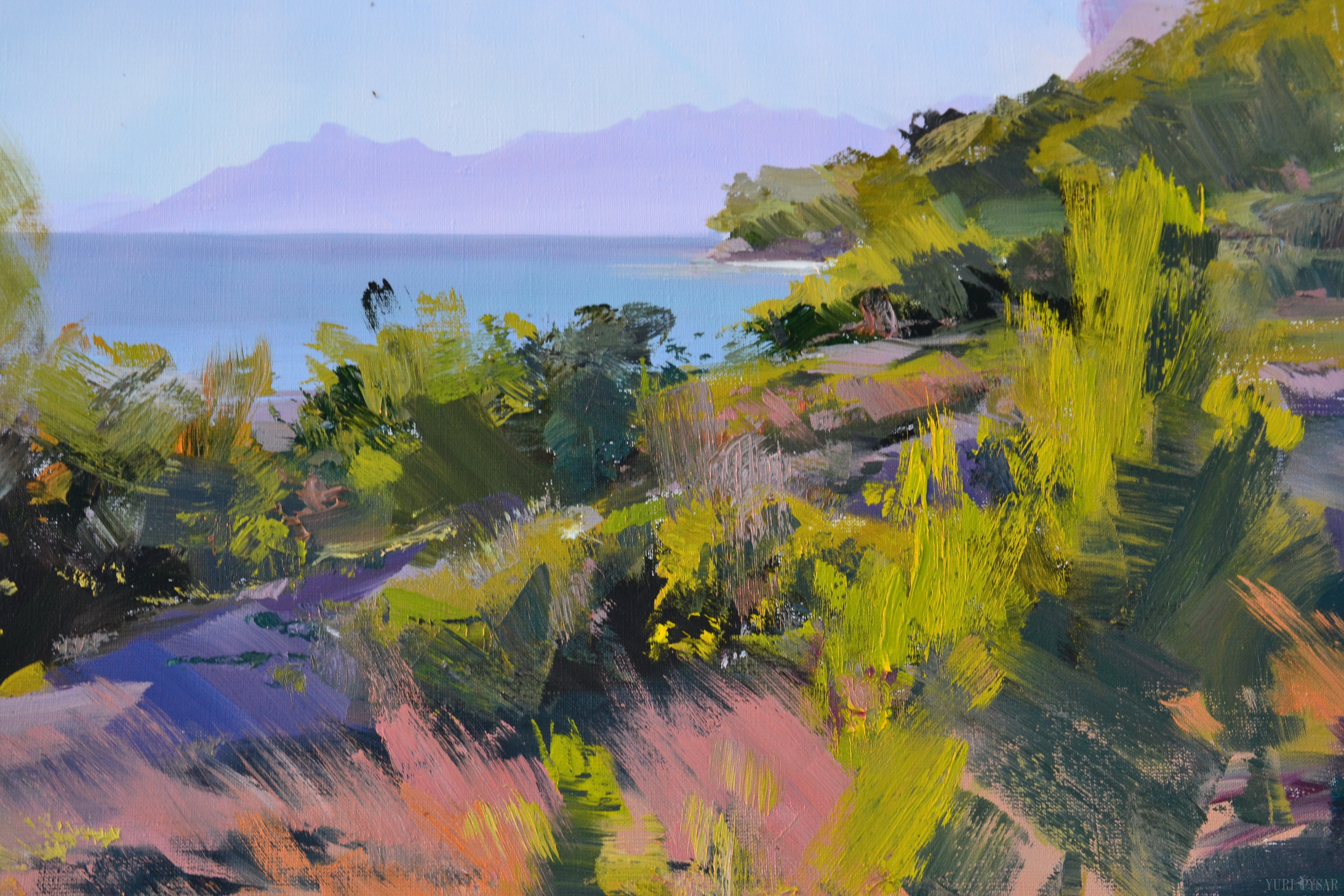 the oil landscape painting created during the plein air in Croatia