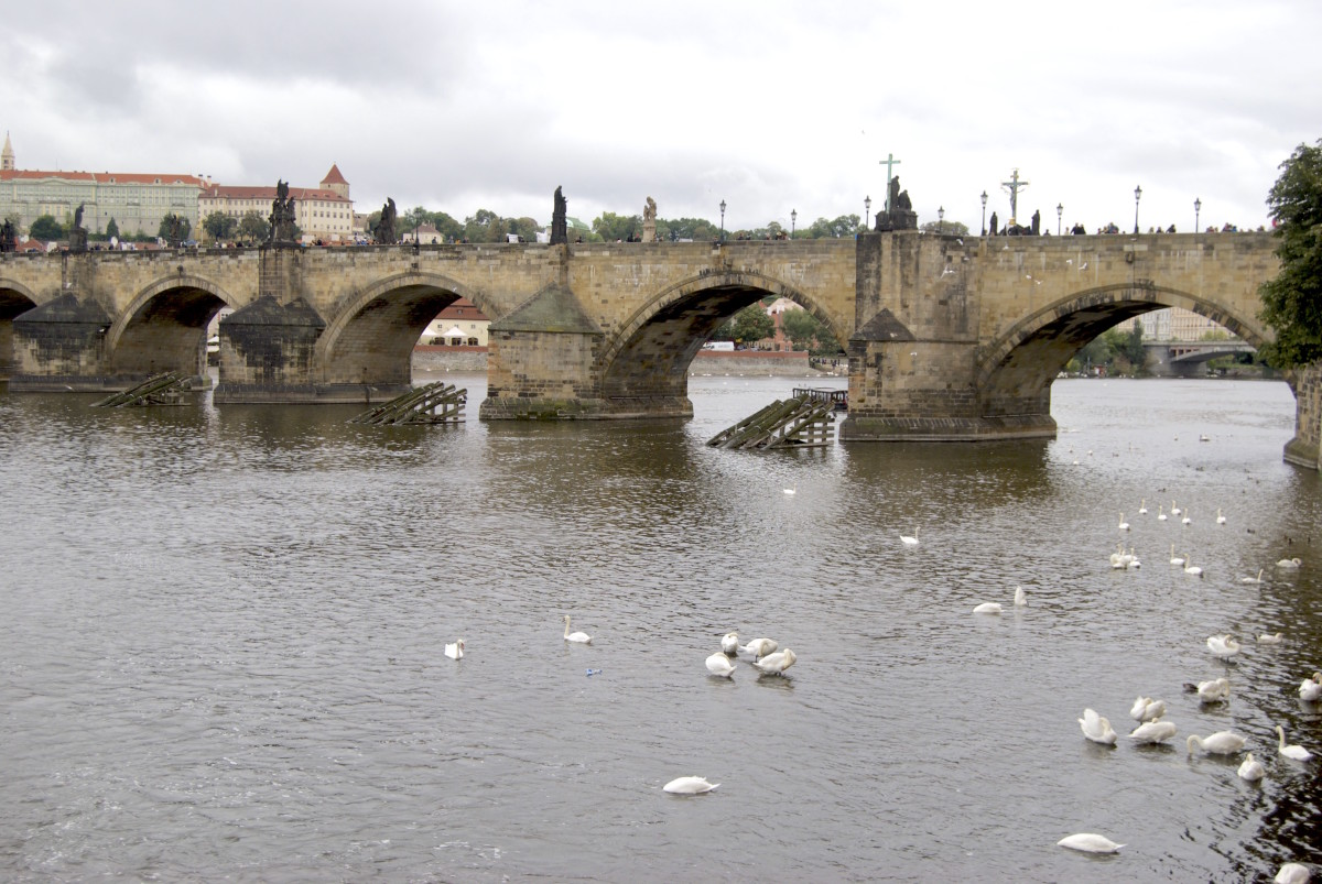 karl bridge or charles bridge is the oldest bridge in Prague