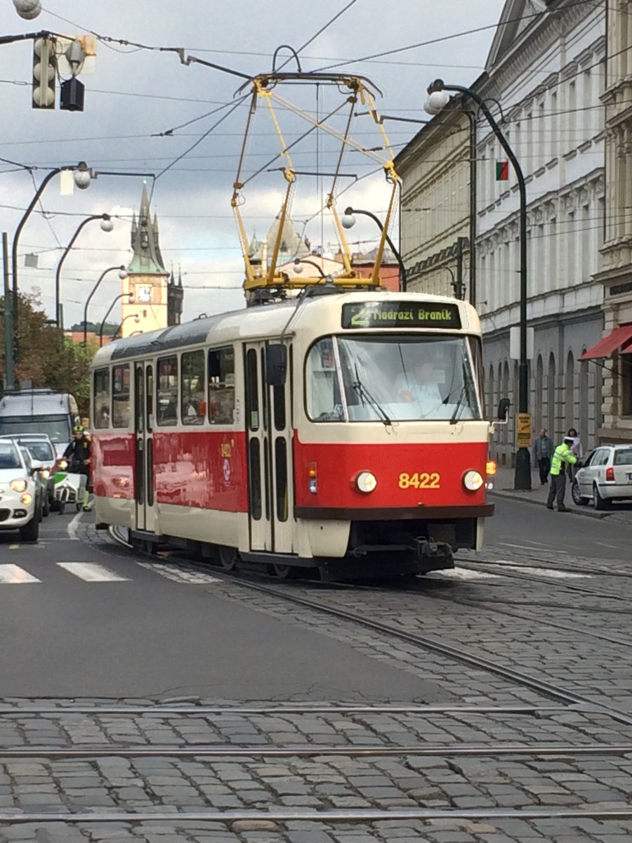 Old tram in Prague