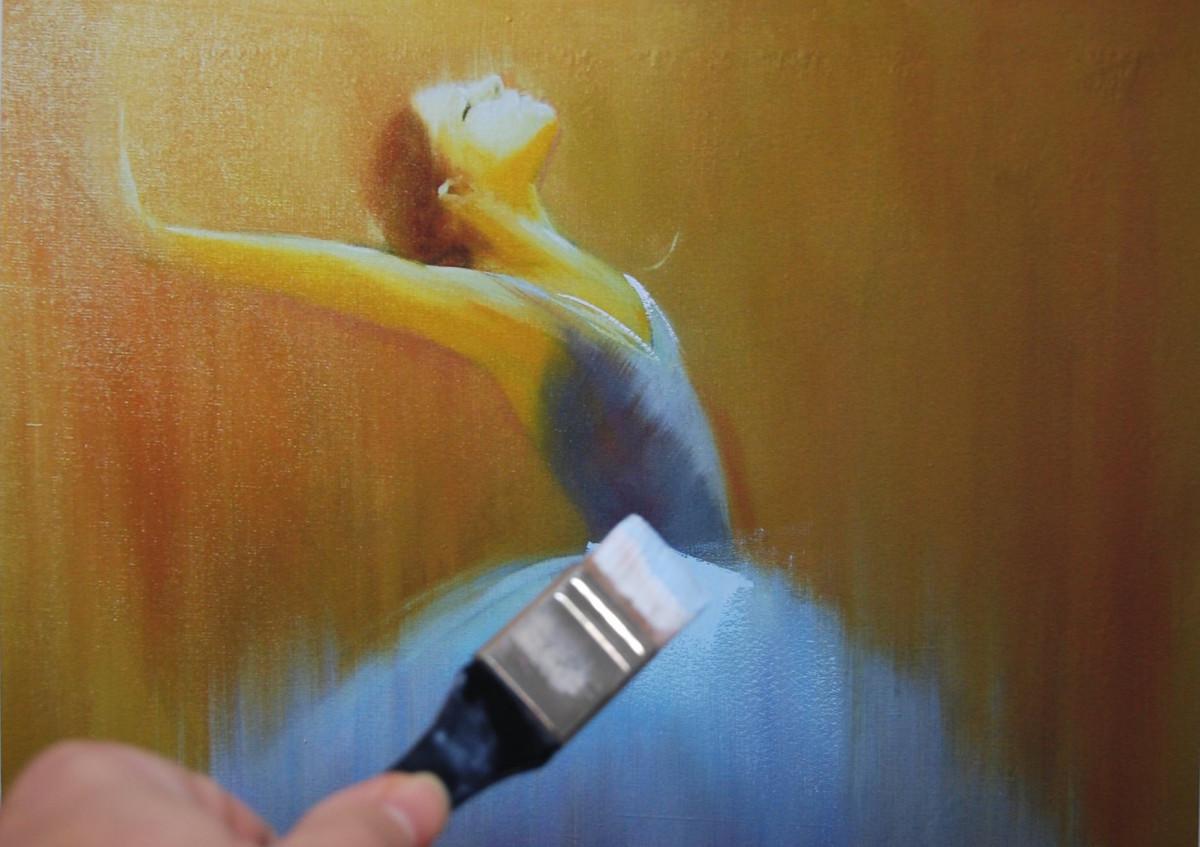 ballerina giclee canvas art print