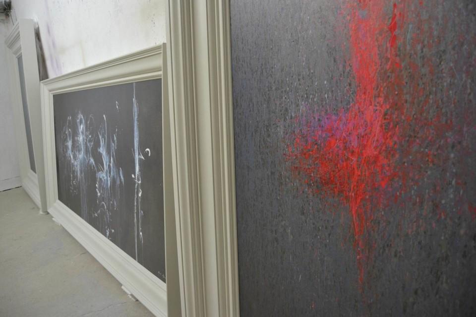 сучасний живопис, картина чорно-біла мінімалізм
