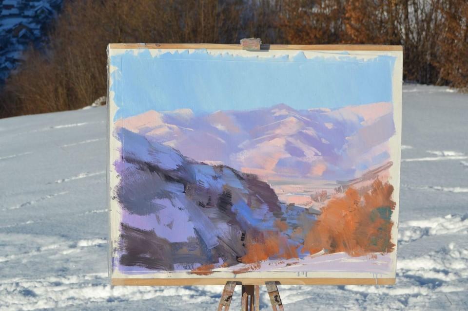 original-landscape-painting-carpathian-mountains