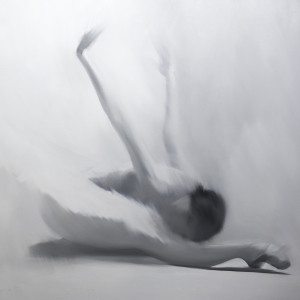 original ballet painting in grey
