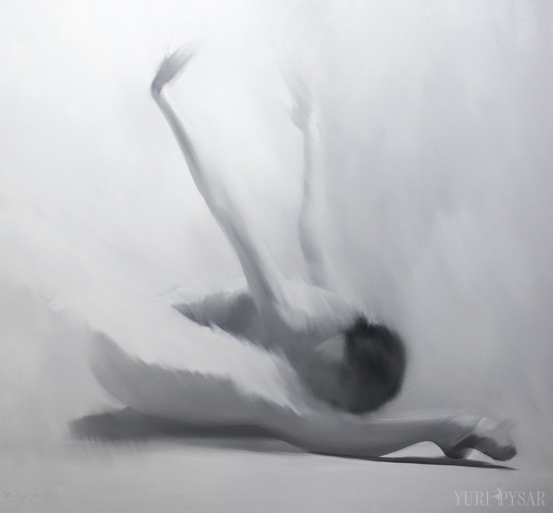 original ballet painting in grey