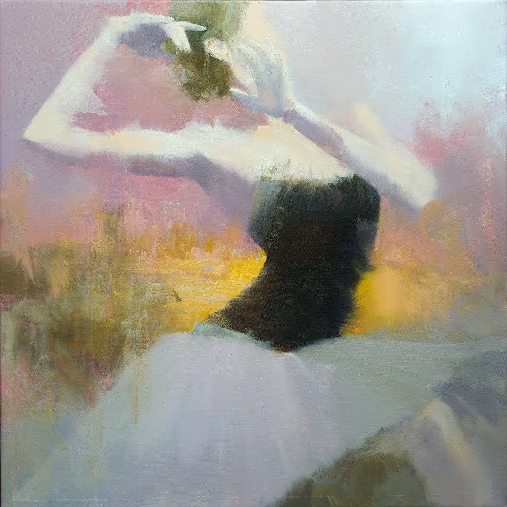 oil painting on canvas of a female ballet dancer contemporary art