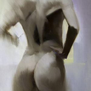 картина маслом живопис чоловіче ню