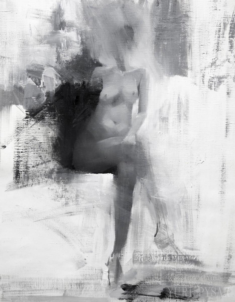 картина оголеної натури абстракнтий живопис