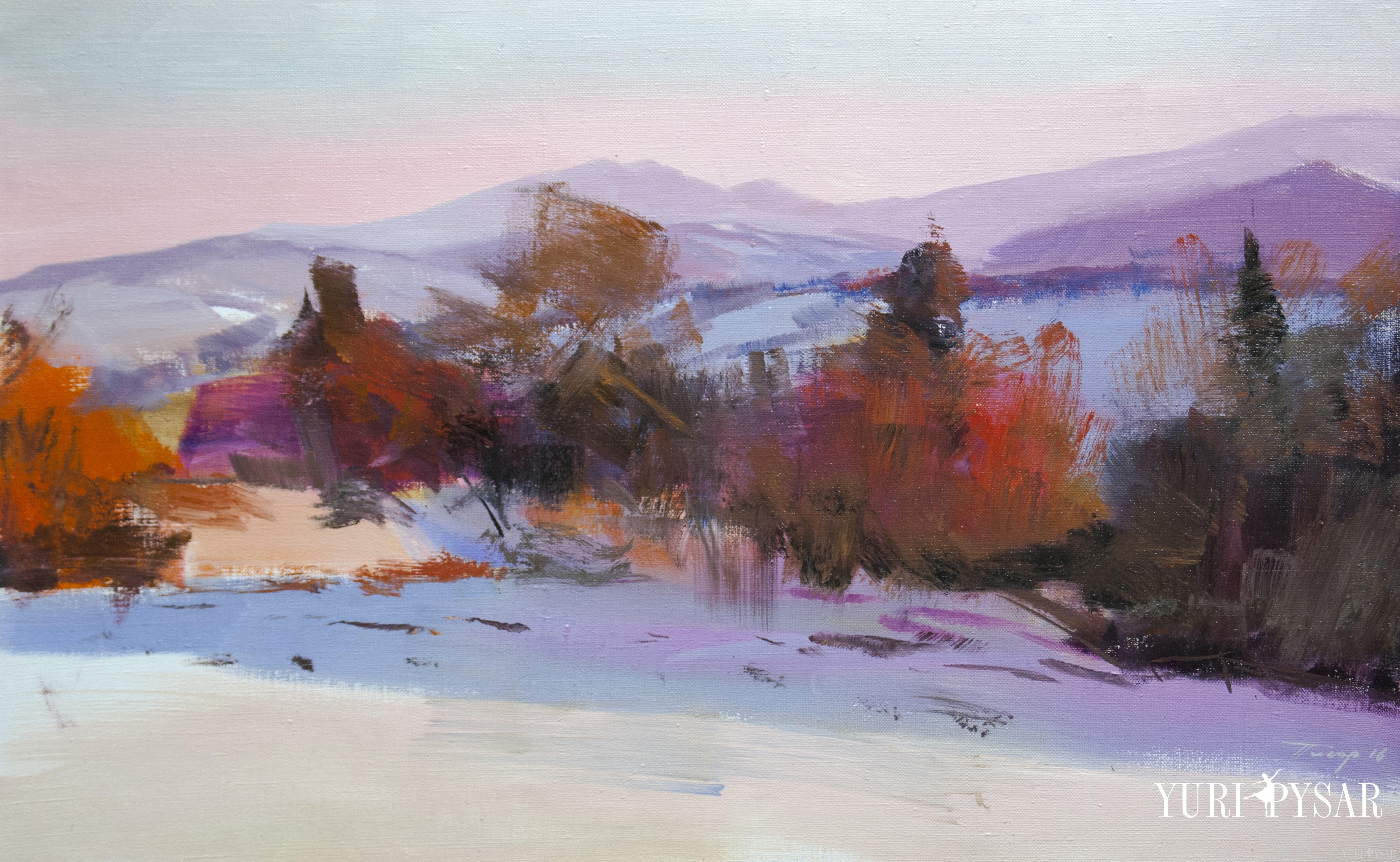 картина зимовий пейзаж на лейбові горі