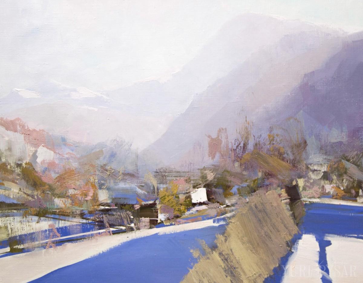 картина пейзаж Карпат панорама Петросу і Говерли