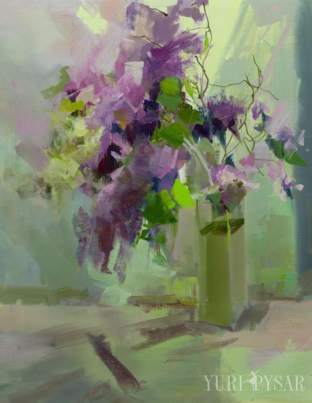 картина квіти натюрморт букет з бузком