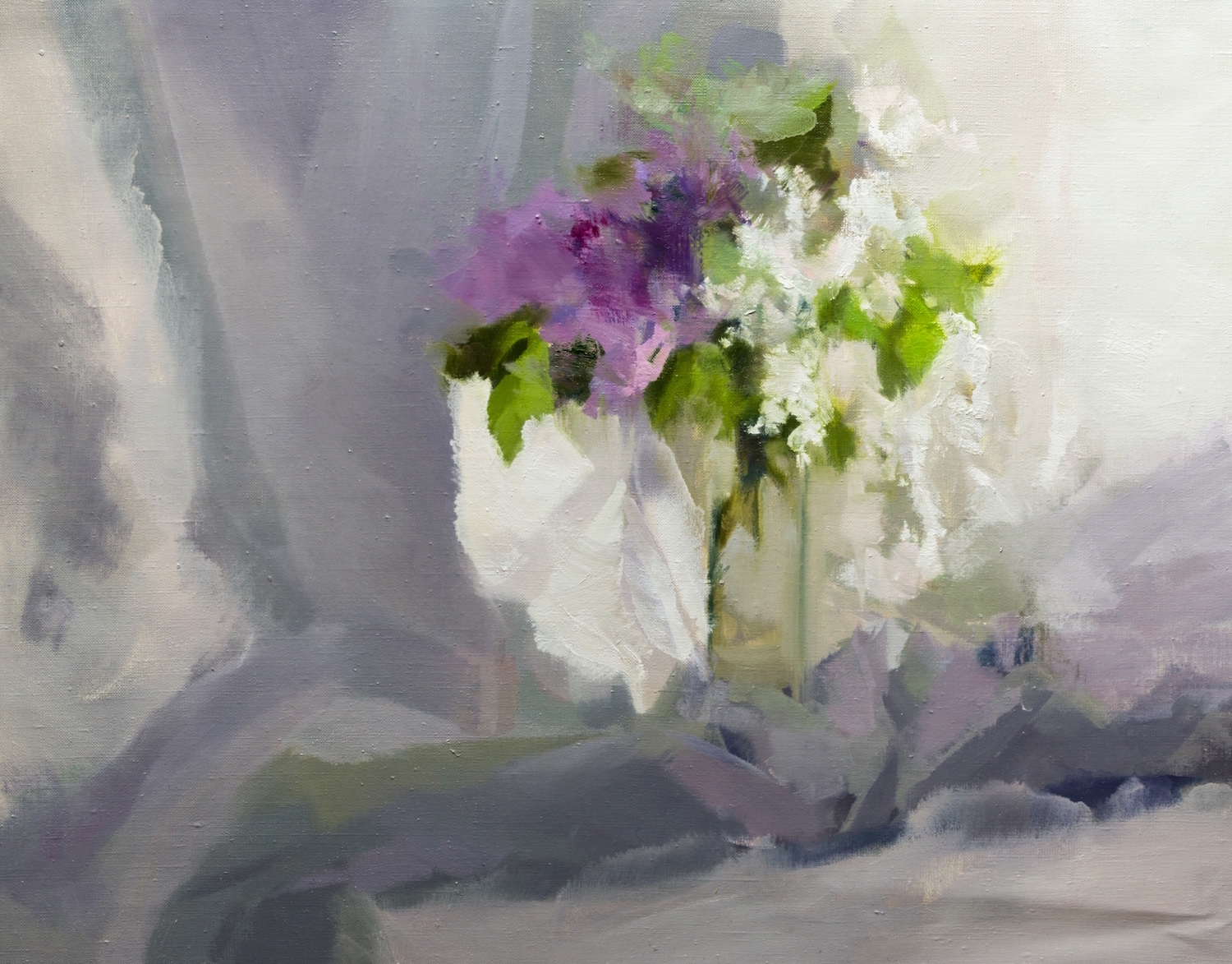 oil flower painting contemporary artwork of floral composition